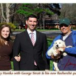 Jamel and Charity Hamka with George Straight, English Cream Golden Retriever Puppy